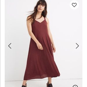 NEW • Madewell • Camo Maxi Dress Dusty Burgundy